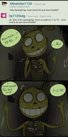 FNAF - Ask#1 How Much Spring Loves Goldie by Atlas-White