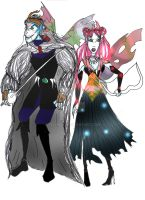 Shrunken Ragor and Mag by Selinelle