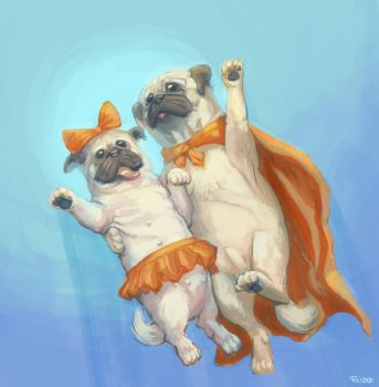 Pugs by roobens