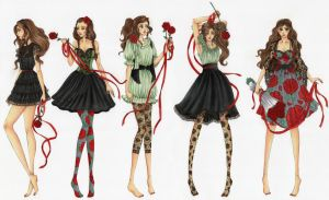 Rose Garden Girls by kiero