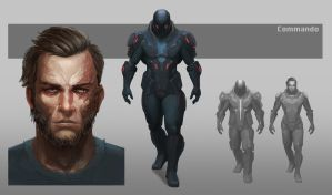 Sci-fi Soldier Concept Art by AndisReinbergs