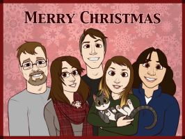 Christmas Card 2014 by ThreadandClaws
