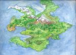 Full Watercolor Map: Ceredonia by pokemonviolet