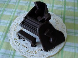 Chocolate piano by HolographicImaging