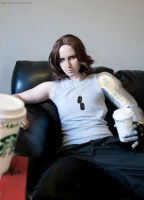 COSPLAY - Winter Soldier - Starbucks by MarineOrthodox