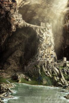 Cavern Fortress by fervalosious