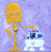 C3PO and R2D2 by xanderthurteen