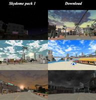 [MMD] Skydome pack 1 remade [download] by Wampa842