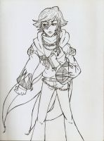 Wizard gale Lineart by 25animeguys
