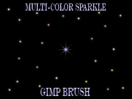 MULTI-COLOR SPARKLE GIMP BRUSH by a2j3