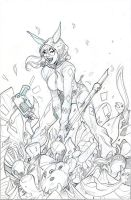 Infinite Crisis #1 Harley Quinn Cover Pencils by TerryDodson