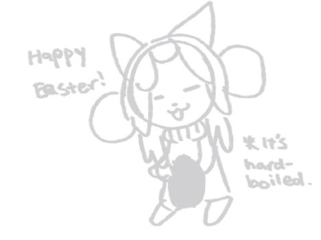 Temmie Easter by WhizpopDrawer