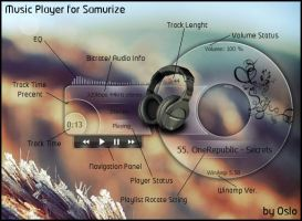 Music Player for Samurize by xOslox