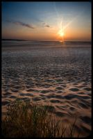 Sunset Over Holkham Beach by grimleyfiendish