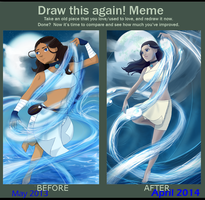 Draw this again - Katara by Graya7