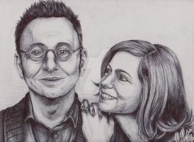 Michael Emerson and Carrie Preston by HER13