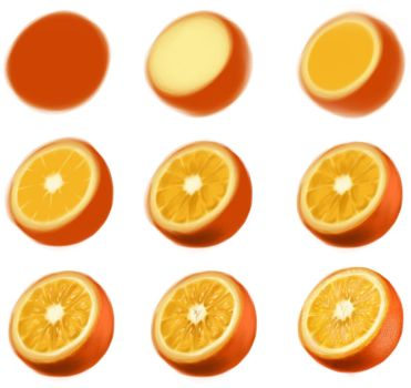 orange - step by step by ryky