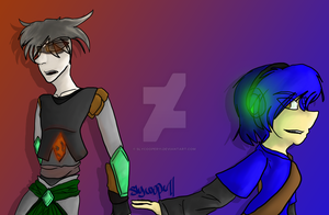 Sly and Emerald by slycooper11
