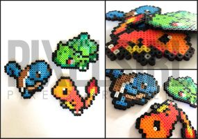 Pokemon Starters - Charmander, Bulbasaur, Squirtle by pixelsirl