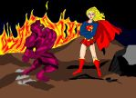 Despero and Supergirl by Englishman17