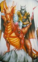 airbrushed Dragon T-shirt by NeoGzus