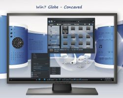 Win7 Globe - Concaved by rvc-2011