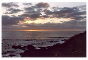 yachats sunset by champaignful