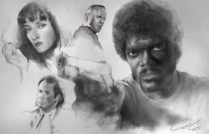 Pulp Fiction painting ( Youtube Speedpaint video) by MikaZZZ