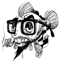 Hipster Fish by stablercake