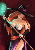 Sorceress by RizaRizis