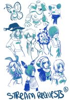 LS Sketch Requests 1 by tabby-like-a-cat