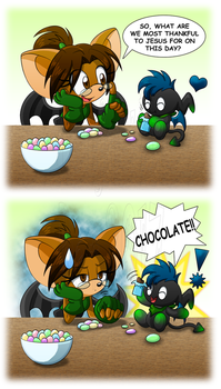 Easter Question (a.k.a Priorities are Cracked) by TanjatheBat