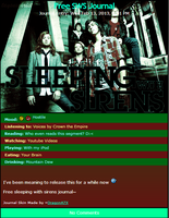 Sleeping With Sirens Journal Skin by DragonA7X