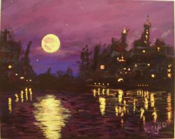 Harvest Moon my painting by cliford417