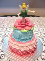 Tinkerbell Birthday Cake by lenslady