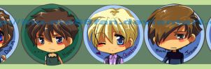 +buttons+ Gundam Wing set by jinyjin