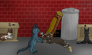 The Alley Ways -Navy and Namir- Fight by slycooper998