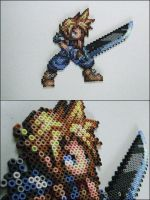 Cloud Strife bead sprite by 8bitcraft