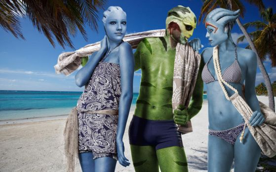 Mass Effect: Beach Holidays by RenderEffect-Dan