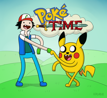 Poke' Time with Ash and Pikachu! by hirurux