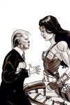 Wonder Woman Kneeing Donald Trump in the Crotch by Spearhafoc