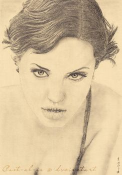 Angelina Jolie portrait by Cast-al-ia