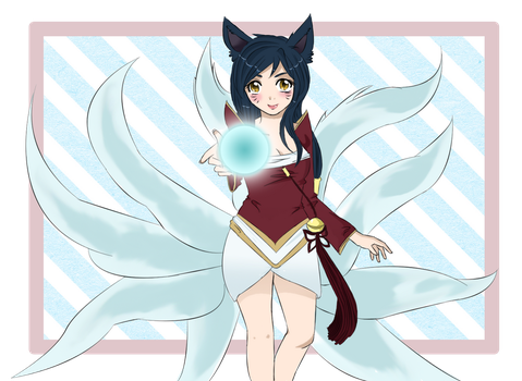 Play with me - Ahri League of Legends by Haine2006