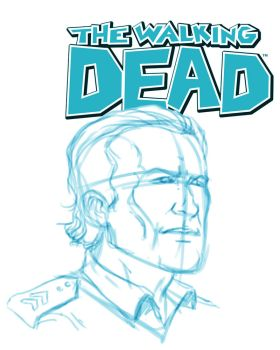 Rick Grimes rough by rubenslima