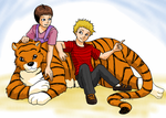 Two Kids and a Tiger by ErinPtah