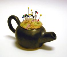 Teapot Pincushion by CreativelyStrange