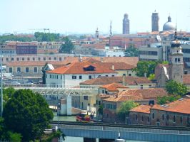 Rooftops of Venice by AtomicBrownie