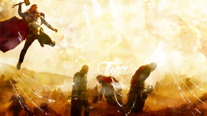 thor wallpaper by cherriousa