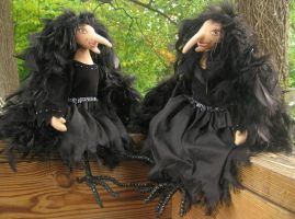 Crow Ladies..2 for mirth by fairiesnest