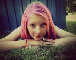 Me in pink hair , hahaah. by 1DLoveeeer